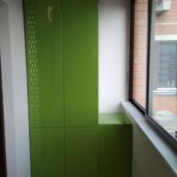 Шкаф на балкон (зеленый)